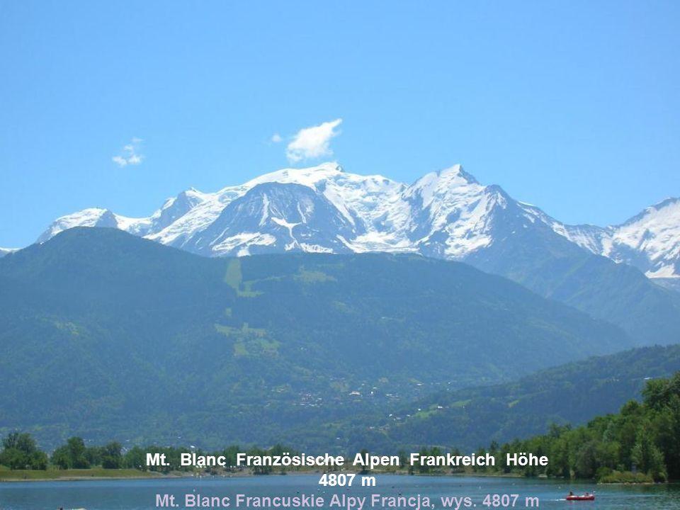Mt. Blanc Französische Alpen Frankreich Höhe 4807 m Mt