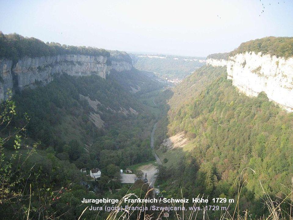 Juragebirge Frankreich / Schweiz Höhe 1729 m Jura (góry) Francja /Szwajcaria, wys. 1729 m