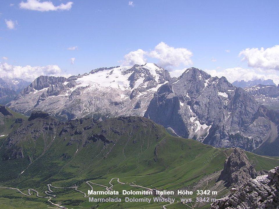 Marmolata Dolomiten Italien Höhe 3342 m Marmolada Dolomity Włochy , wys. 3342 m
