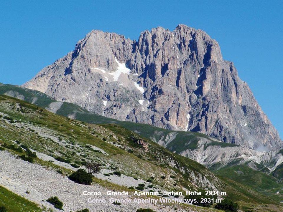 Corno Grande Apennin Italien Höhe 2931 m Corno Grande Apeniny Włochy, wys. 2931 m