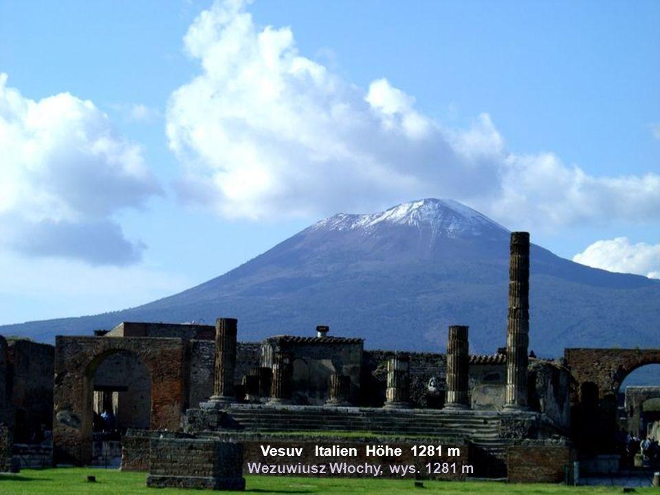 Vesuv Italien Höhe 1281 m Wezuwiusz Włochy, wys. 1281 m