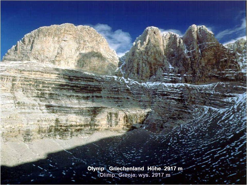Olymp Griechenland Höhe 2917 m Olimp Grecja, wys. 2917 m