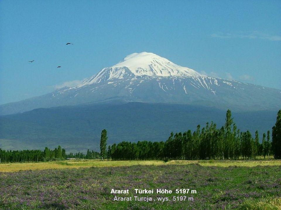 Ararat Türkei Höhe 5197 m Ararat Turcja , wys. 5197 m