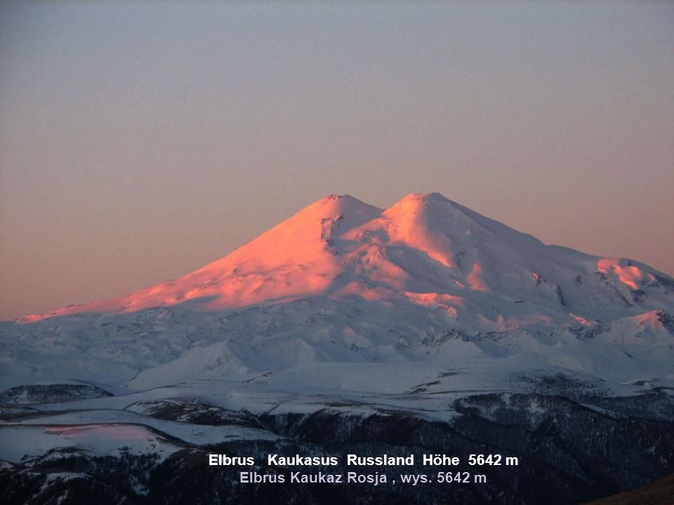 Elbrus Kaukasus Russland Höhe 5642 m Elbrus Kaukaz Rosja , wys. 5642 m