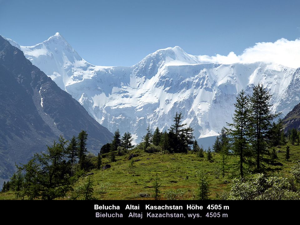 Belucha Altai Kasachstan Höhe 4505 m Biełucha Ałtaj Kazachstan, wys