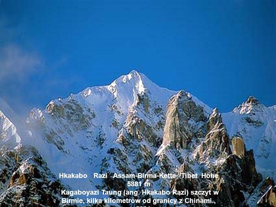 Hkakabo Razi Assam-Birma-Kette Tibet Höhe 5881 m Kagaboyazi Taung (ang