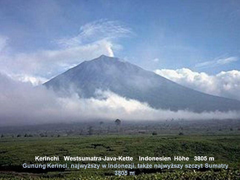 Kerinchi Westsumatra-Java-Kette Indonesien Höhe 3805 m Gunung Kerinci, najwyższy w Indonezji, także najwyższy szczyt Sumatry 3805 m