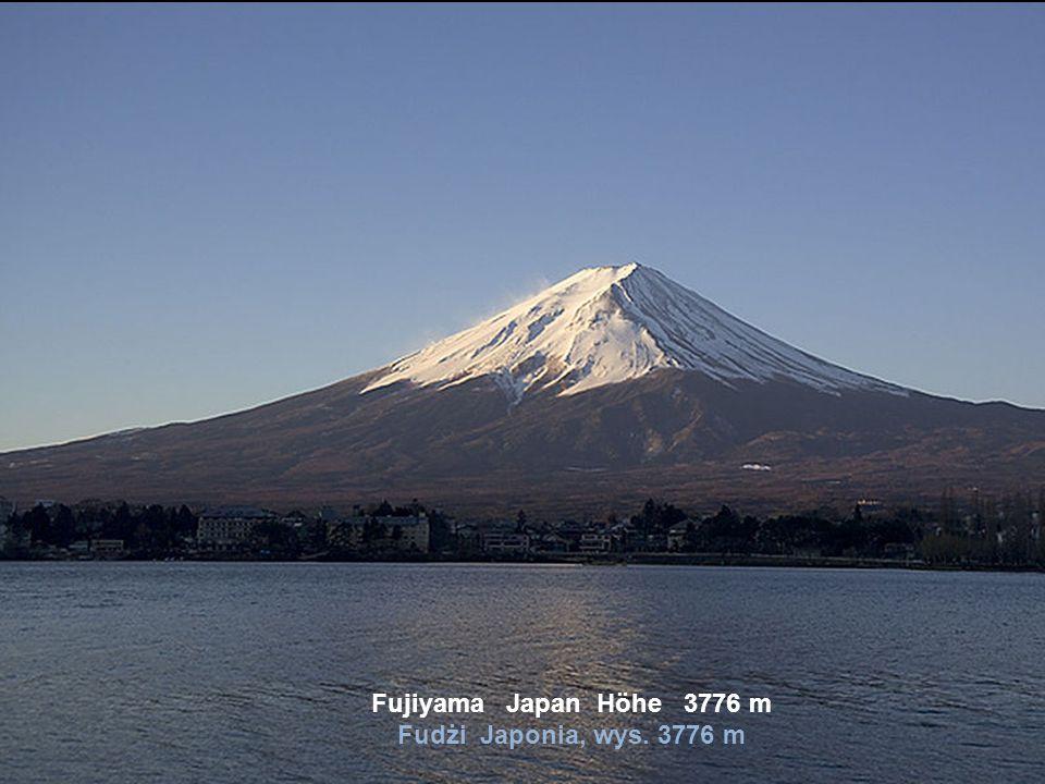 Fujiyama Japan Höhe 3776 m Fudżi Japonia, wys. 3776 m