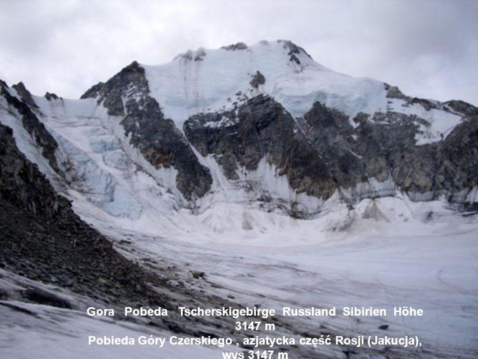 Gora Pobeda Tscherskigebirge Russland Sibirien Höhe 3147 m Pobieda Góry Czerskiego , azjatycka część Rosji (Jakucja), wys 3147 m