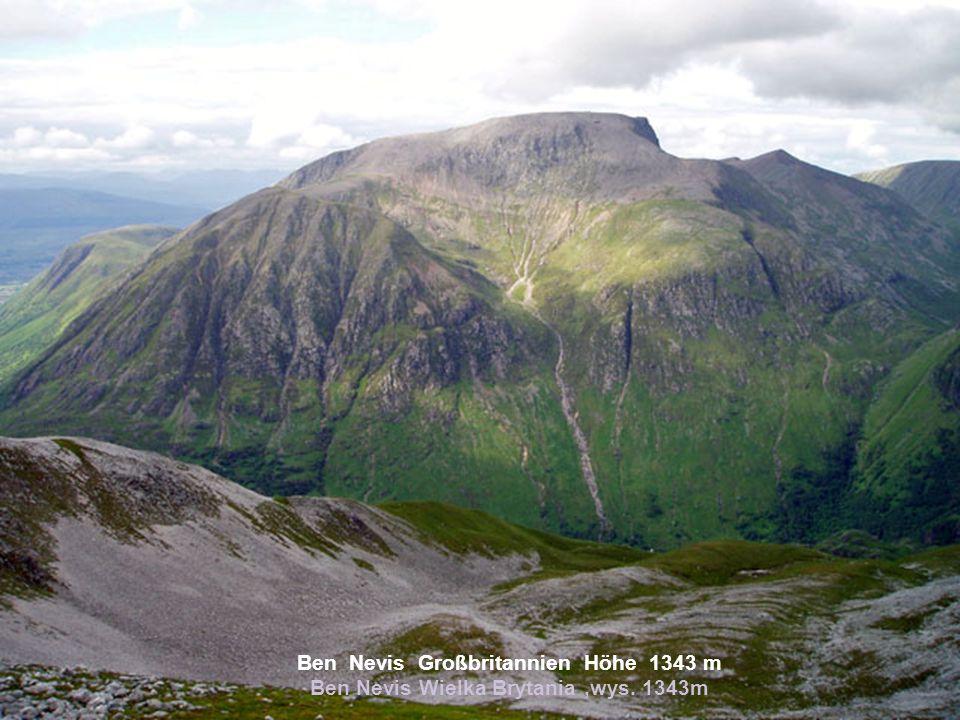 Ben Nevis Großbritannien Höhe 1343 m Ben Nevis Wielka Brytania ,wys