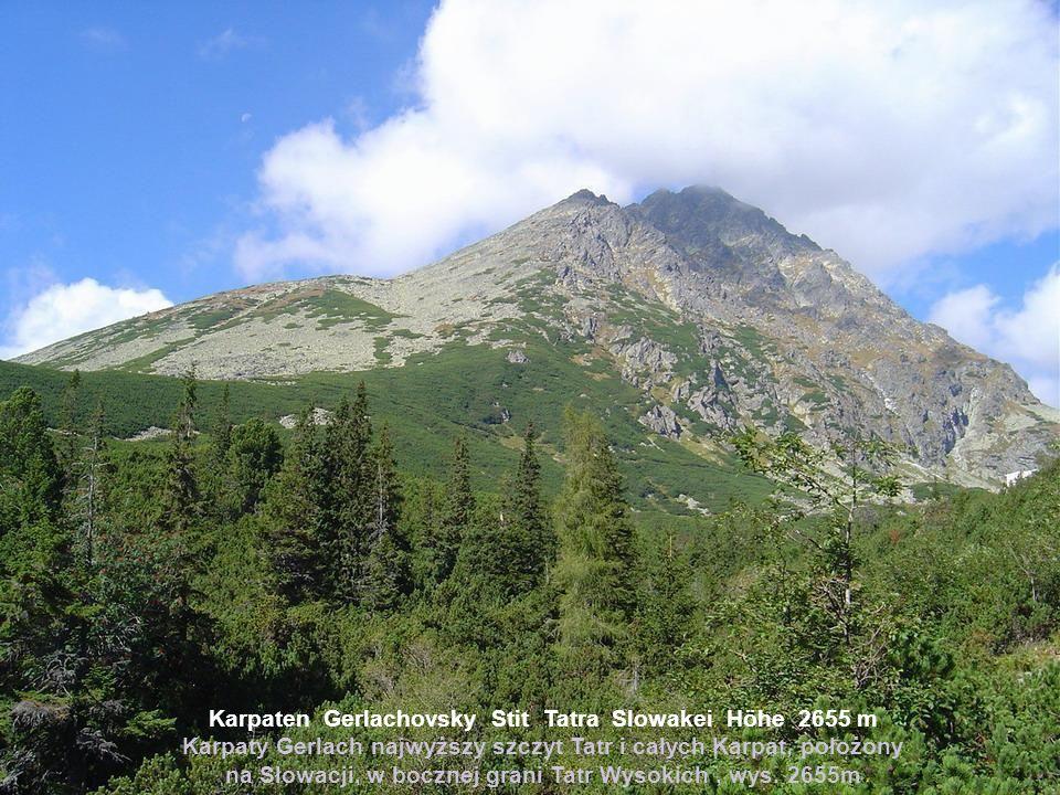 Karpaten Gerlachovsky Stit Tatra Slowakei Höhe 2655 m Karpaty Gerlach najwyższy szczyt Tatr i całych Karpat, położony na Słowacji, w bocznej grani Tatr Wysokich , wys.