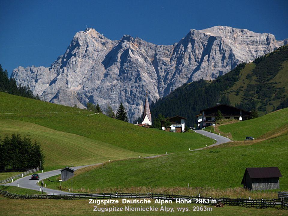 Zugspitze Deutsche Alpen Höhe 2963 m Zugspitze Niemieckie Alpy, wys