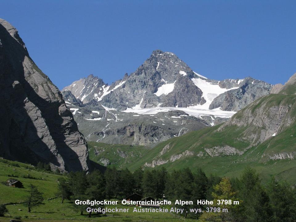 Großglockner Österreichische Alpen Höhe 3798 m Großglockner Austriackie Alpy , wys. 3798 m