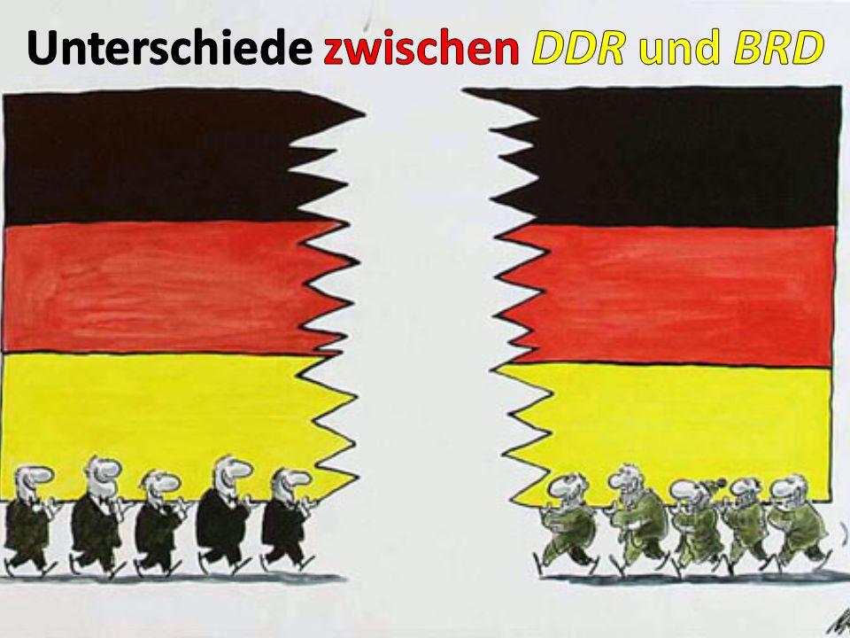Unterschiede zwischen DDR und BRD