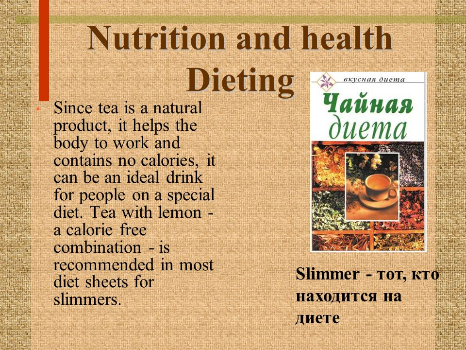 Nutrition and health Dieting