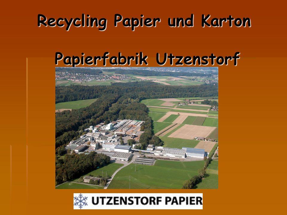 Recycling Papier und Karton Papierfabrik Utzenstorf