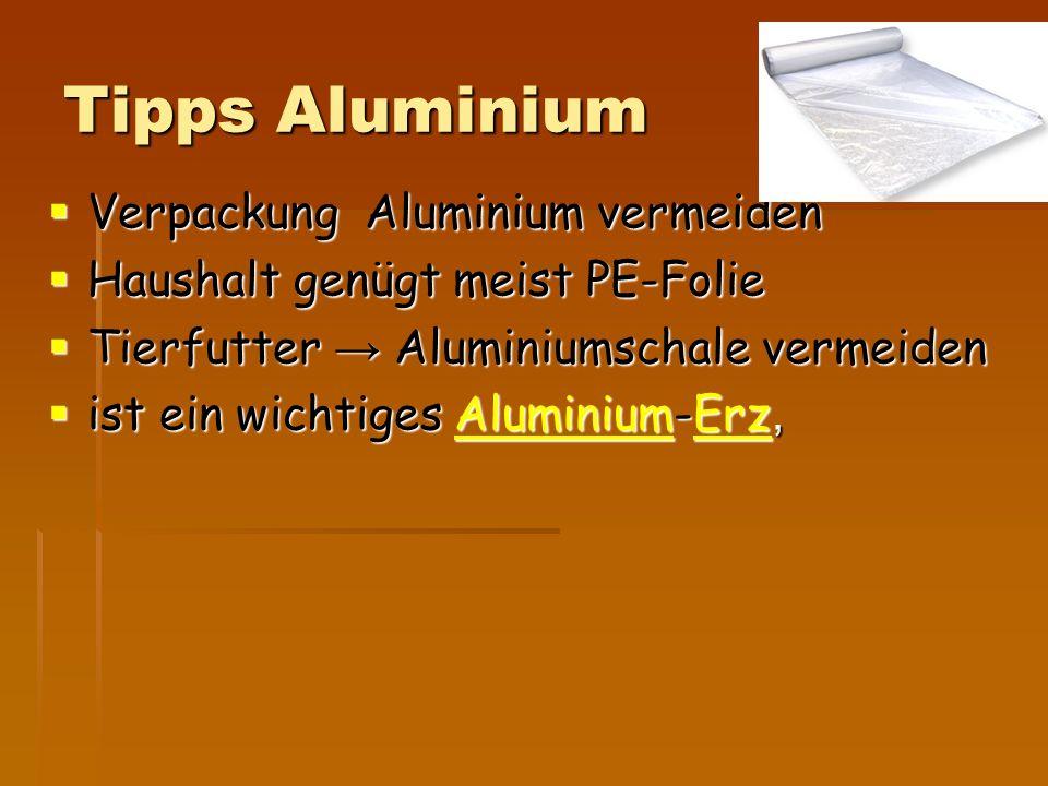 Tipps Aluminium Verpackung Aluminium vermeiden