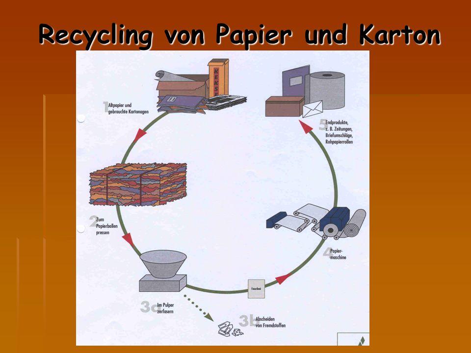 Recycling von Papier und Karton