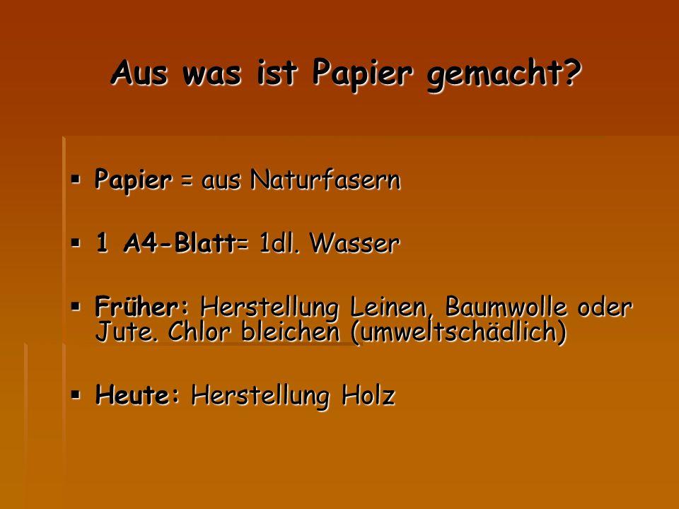 Aus was ist Papier gemacht