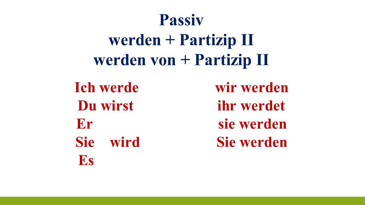werden von + Partizip II