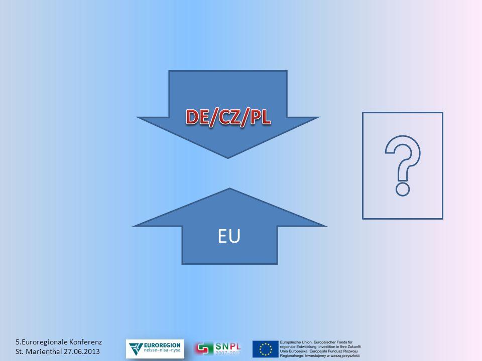 DE/CZ/PL EU 5.Euroregionale Konferenz St. Marienthal 27.06.2013