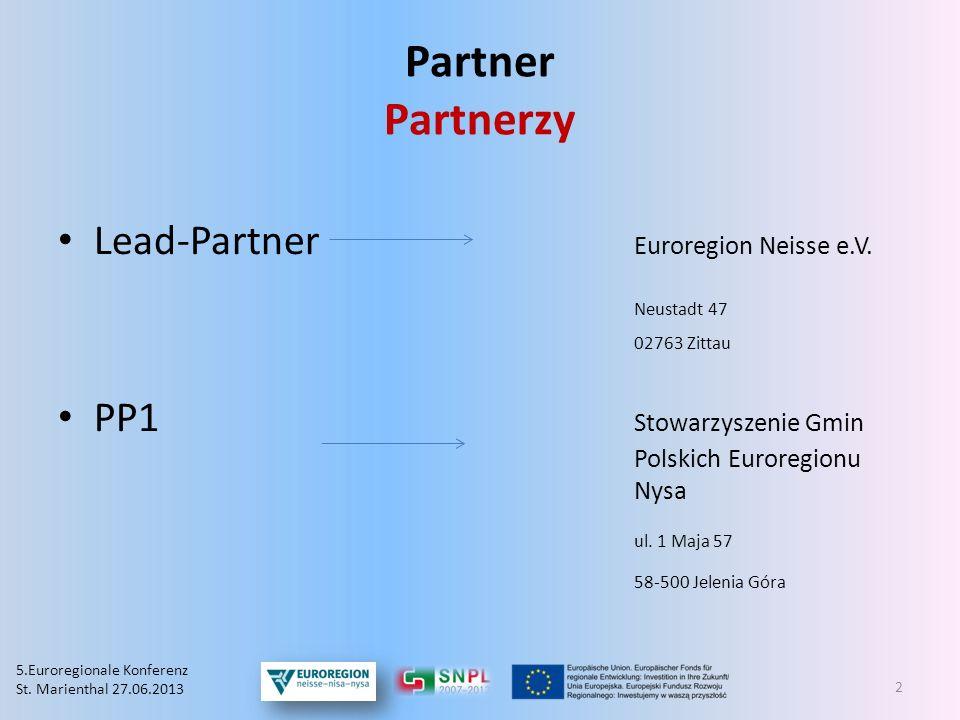 Partner Partnerzy Lead-Partner Euroregion Neisse e.V. Neustadt 47