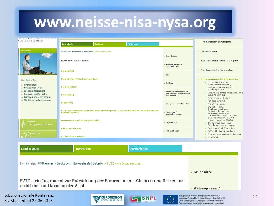 www.neisse-nisa-nysa.org 5.Euroregionale Konferenz
