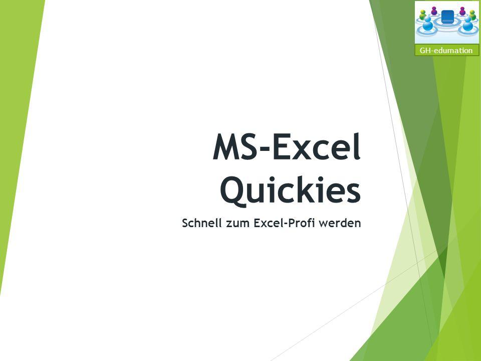Schnell zum Excel-Profi werden