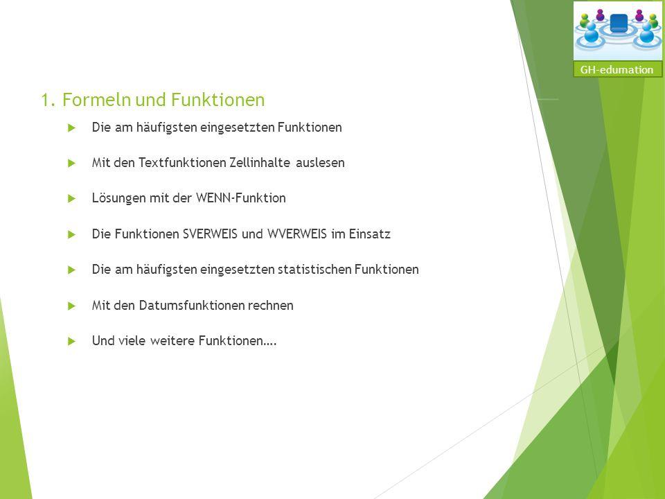 1. Formeln und Funktionen