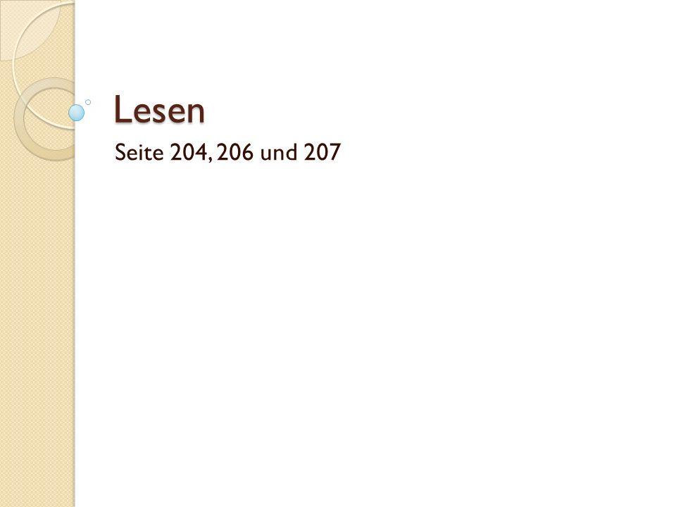 Lesen Seite 204, 206 und 207
