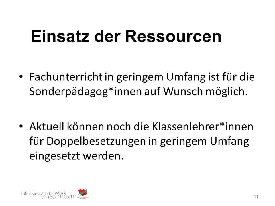 Fazit: Die Ressourcen reichen nicht aus!