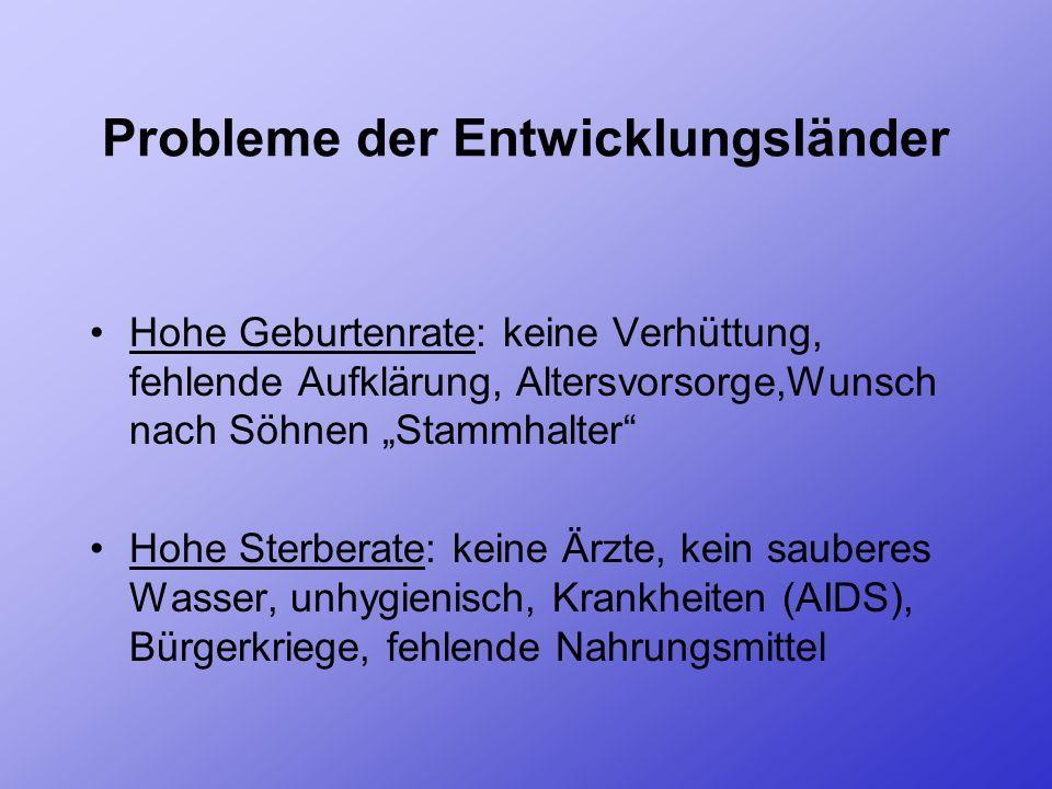 Probleme der Entwicklungsländer