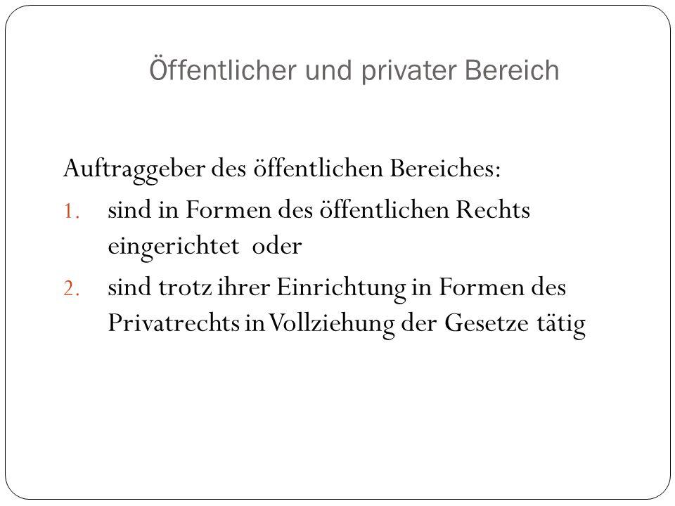 Öffentlicher und privater Bereich