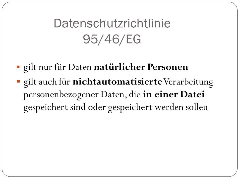 Datenschutzrichtlinie 95/46/EG