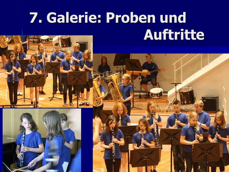 7. Galerie: Proben und Auftritte