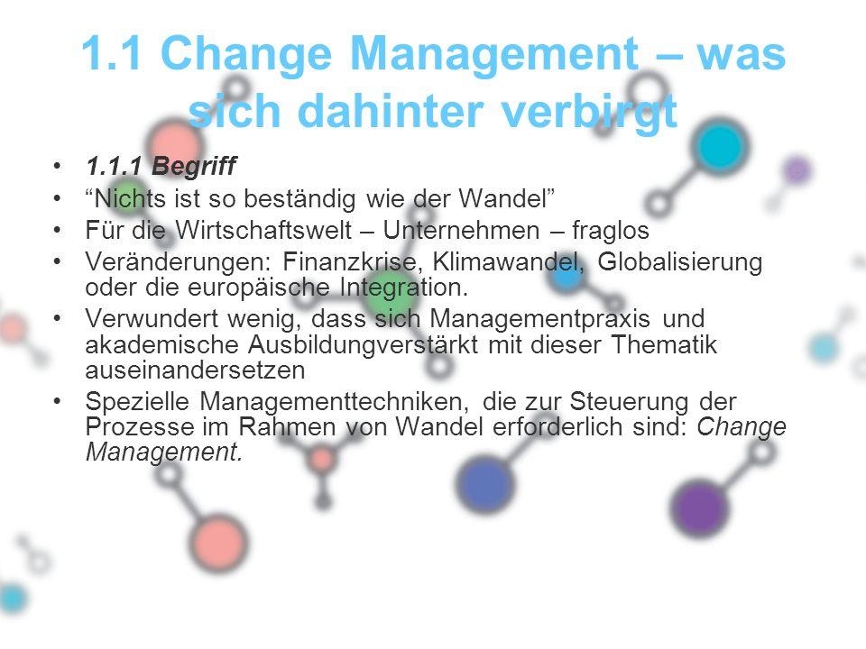 1.1 Change Management – was sich dahinter verbirgt