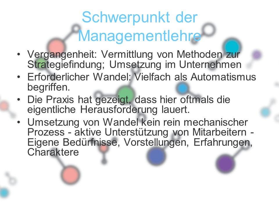 Schwerpunkt der Managementlehre