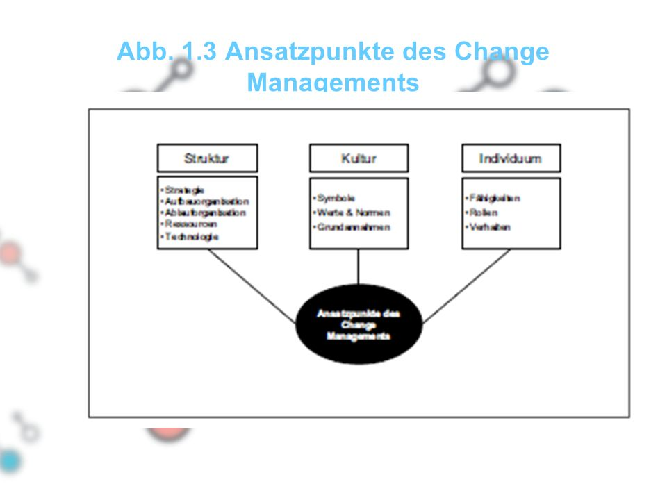 Abb. 1.3 Ansatzpunkte des Change Managements