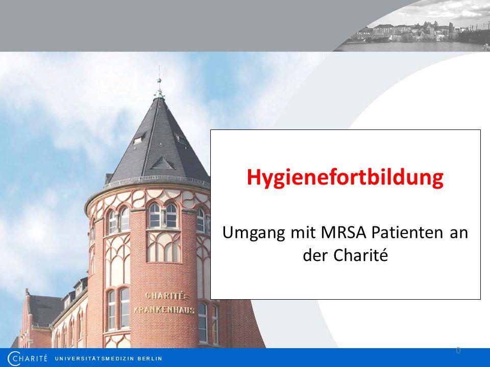 Hintergrund Grundlage dieses Vortrages ist die aktuelle Veröffentlichung der KRINKO-Empfehlungen zur Kontrolle von MRSA.