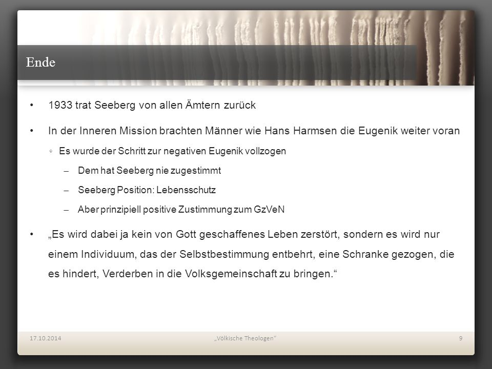 Projekt: Reinhold Seeberg in seiner Zeit