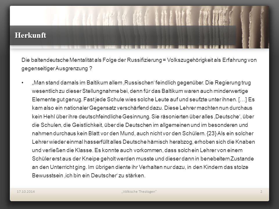 Wurzeln des Volksbegriffs bei Seeberg