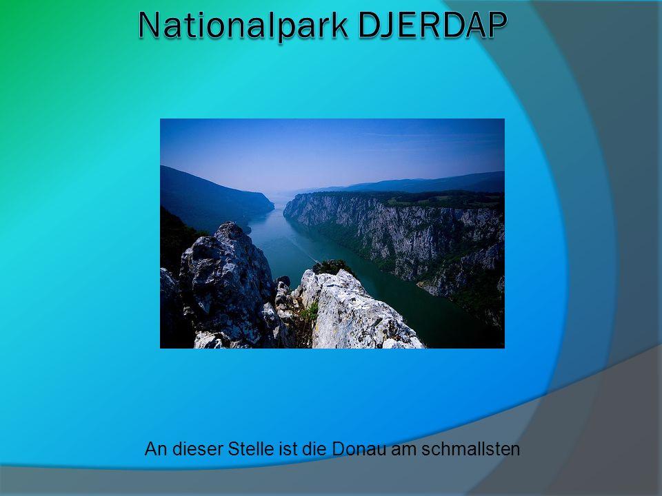 An dieser Stelle ist die Donau am schmallsten