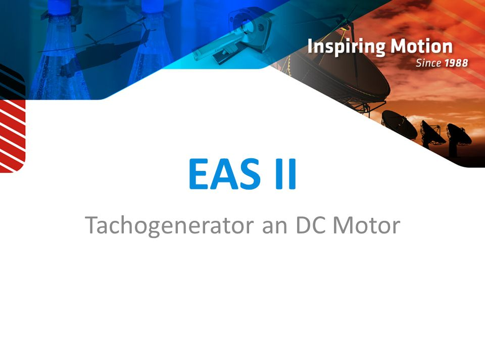 Tachogenerator an DC Motor