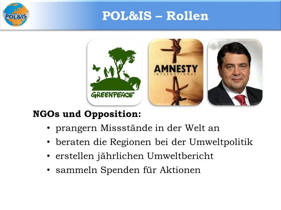 POL&IS – Rollen NGOs und Opposition: