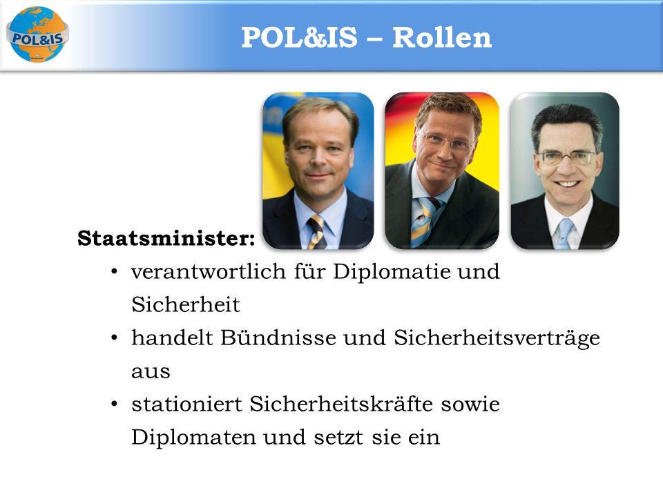 POL&IS – Rollen Staatsminister: