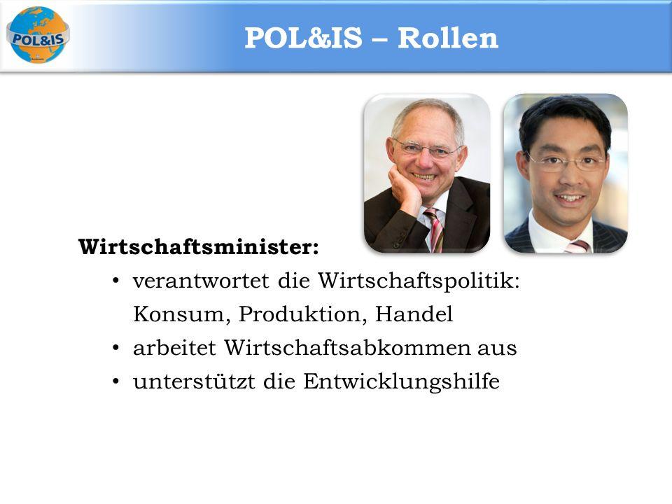 POL&IS – Rollen Wirtschaftsminister: