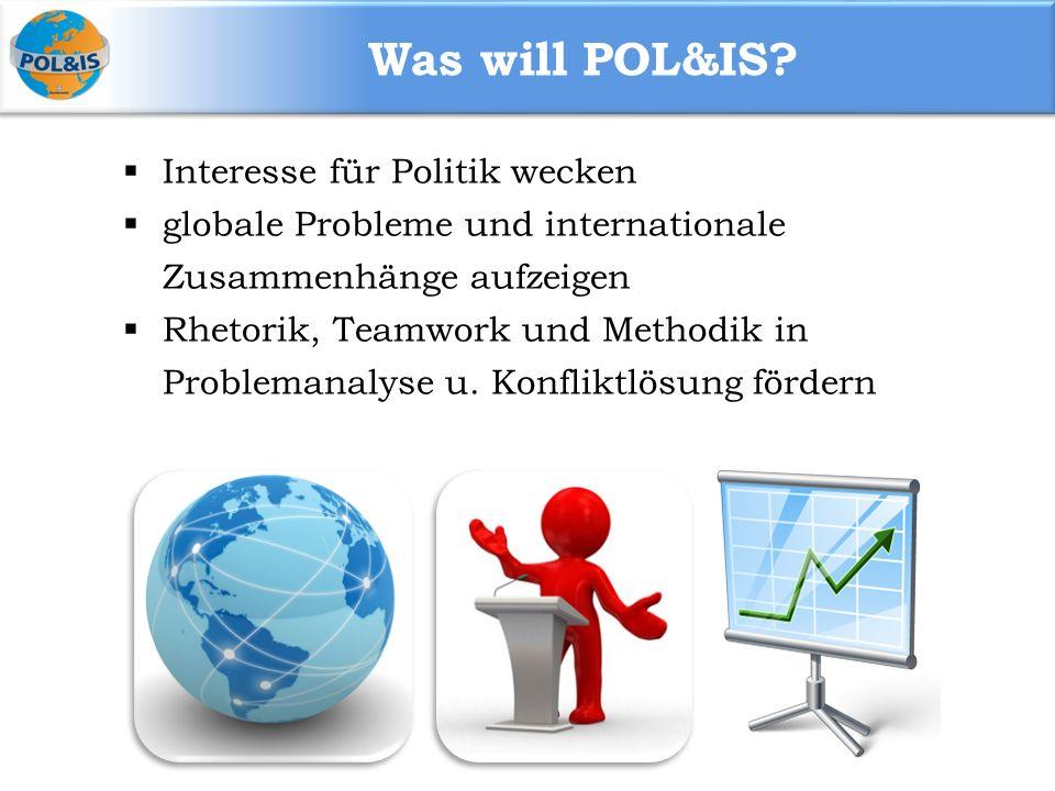 Was will POL&IS Interesse für Politik wecken