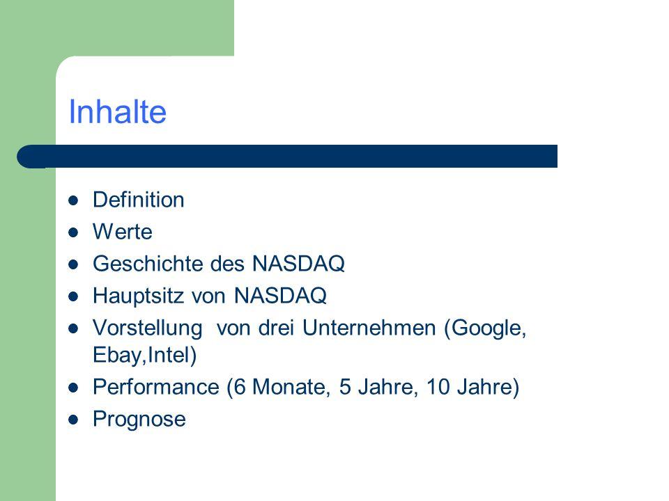 Inhalte Definition Werte Geschichte des NASDAQ Hauptsitz von NASDAQ