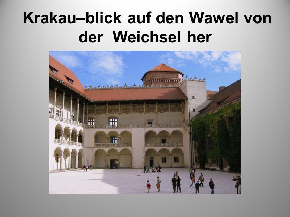 Krakau–blick auf den Wawel von der Weichsel her