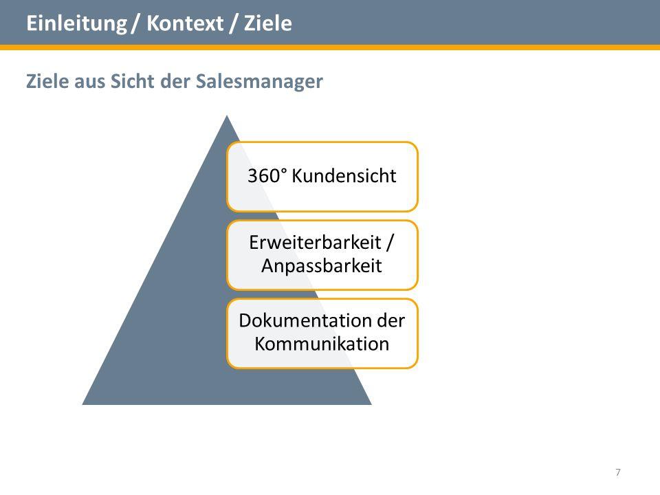 Einleitung / Kontext / Ziele